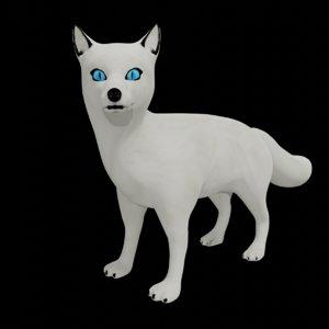 3D model arctic fox rigged
