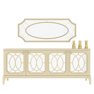 3D luxury mirror console table