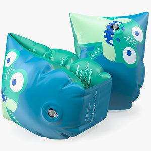 kids inflatable armbands arm 3D model