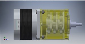 stage planetary gearbox output 3D