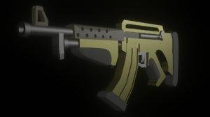 3D simple assault rifle model