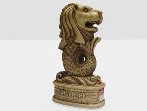 merlion figurine 3D