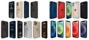 apple iphone 12 collections 3D model