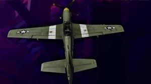 3D f-51 mustang
