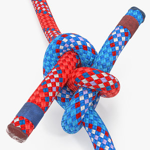 colored carrick bend knot 3D model