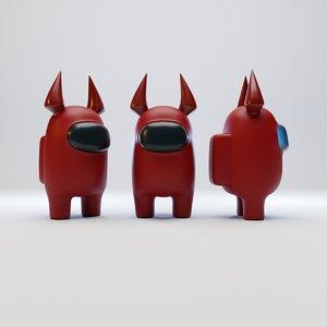 3D model character devil horn