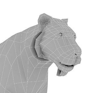 3D model tiger base