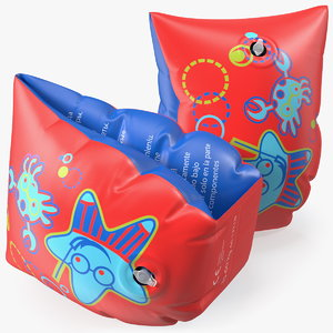 3D colorful swimming float armbands