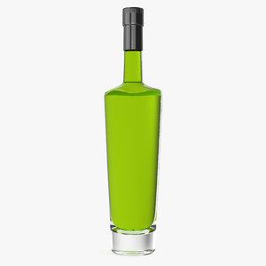 absinthe bottle 3D model