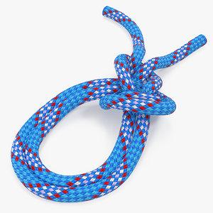 bowline bight knot 3D