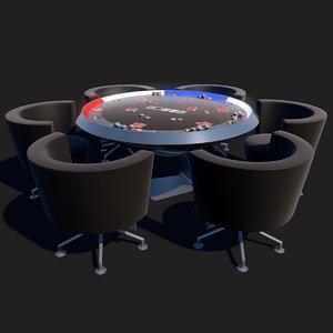 scifi poker table 3D model