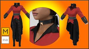 3D clo3d marvelous designer jacket
