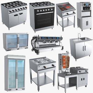 3D model commercial kitchen appliances