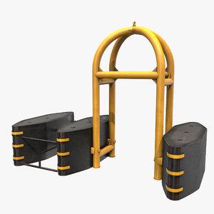3D safety barrier antiterror