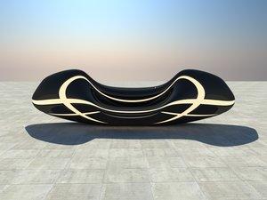 design modern bench 3D