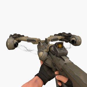 fantasy crossbow v2 3D model