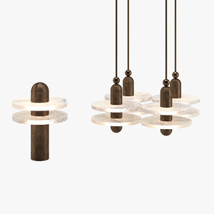 3D chandelier 16 table lamp
