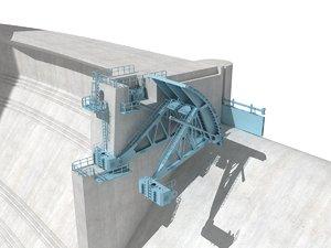 dam sluice gate 3D model