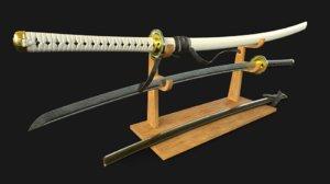 japanese katana sword 3D