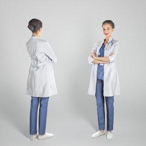 3D model human young woman medical