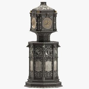 3D clock 02 historic