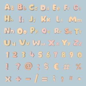 3D balloon alphabet