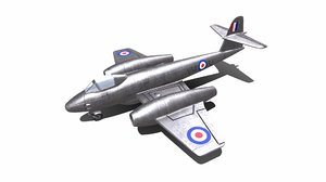gloster meteor fighter plane 3D