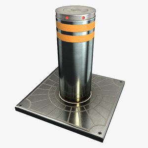 3D hydraulic bollard model