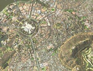 3D model canberra city australia