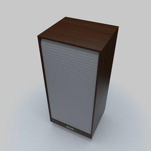 3D roller shutter cabinet
