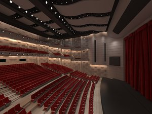theater interior auditorium 3D model
