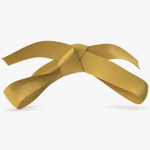 gold bow v 4 3D