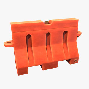 portable traffic barrier 3D model