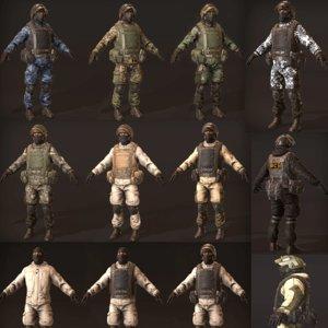 3D gorka soldiers helmet model