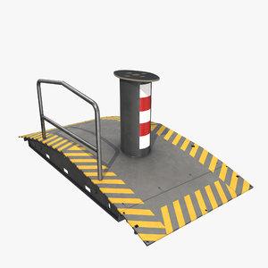 3D portable antiterror roadblock