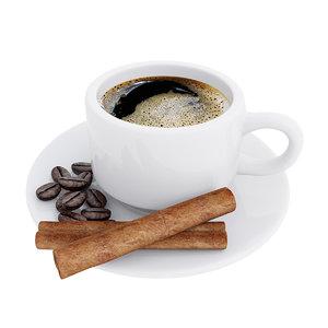 cinnamon coffee cup model