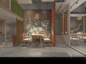 china restaurant 3D