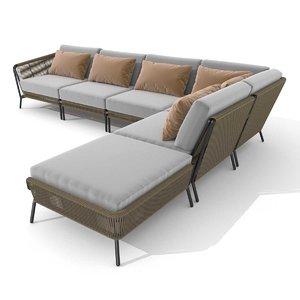 3D sofa sectional model