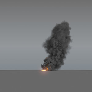 smoke column 03 large 3D model