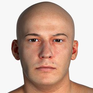3D real pbr marcus human head model