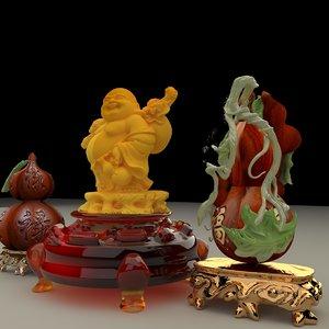 3D chinese buddha