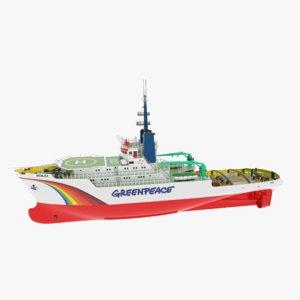 3D greenpeace ship solo