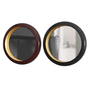 3D gold moon mirror