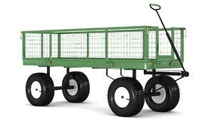 3D model farm cart