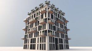 eco office building 3D model