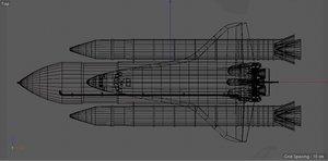 3D space spaceshuttle