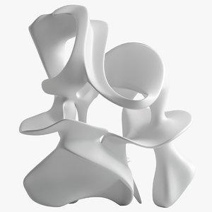 3D sculpture 49 model