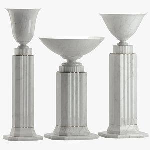 3D sculpture 54 pedestals
