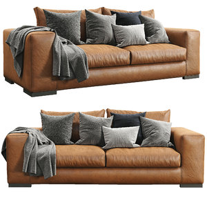 3D sofa leather espace ferlea model