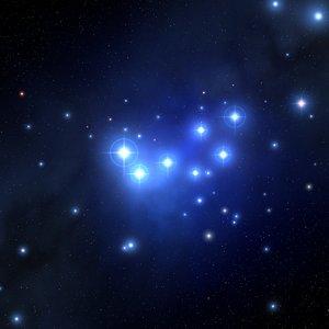3D model pleiades star blue